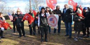 ABD'de Türkler Sarıkamış için yürüdüler