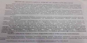 Muhtar adaylarına YSK'dan seçim yasağı