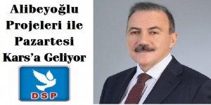 DSP Adayı Naif Alibeyoğlu Projeleri ile Pazartesi Kars'a Geliyor