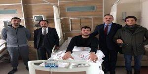 DSP Adayı Alibeyoğlu'dan, Harakani Devlet Hastanesine ziyaret