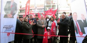 Vatan Partisi Adayı Tuncay Mutluer'in Seçim Koordinasyon Merkezi açıldı