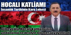 Alibeyoğlu, Hocalı Katliamı'nın 27. yılı nedeniyle bir mesaj yayımladı