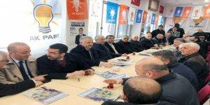 AK Parti Milletvekilleri Sarıkamış'ta seçim çalışmalarına devam ediyor