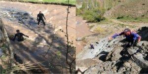 Sarıkamış'ta kaybolan kızı arama çalışmaları havadan görüntülendi