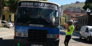 Kars'ta toplu taşıma araçları denetlendi