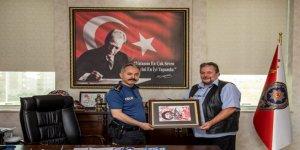 Dr. Bayburtluoğlu, Emniyet Müdürü Ümit Bitirik'i ziyaret etti