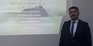 Mehmet Duman Kars'ın ilk Kültür Turizm Bilim Uzmanı oldu