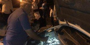 Sarıkamış'ta araç motoruna giren iki kedi 4 saatte kurtarıldı