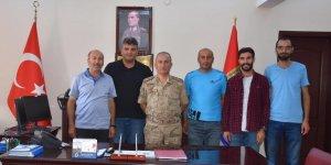 Gazetecilerden Jandarma Komutanına veda ziyareti