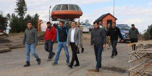 Kars Valisi Türker Öksüz, Sarıkamış Kayak Merkezinde incelemelerde bulundu