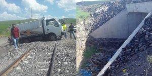 Tren yolunda menfez yapıldı yol açılmadı
