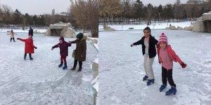 Kars'ta buz pisti hizmete girdi