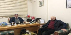 Kars Gazeteciler Birliğinden, Ercüment Daşdelen'e 'hayırlı olsun' ziyareti