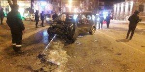 GAMP Konağı önünde kaza