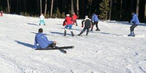 Sarıkamış Cıbıltepe'de kayak keyfi