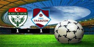 Kars36 Spor: 1 - 1461 Trabzon Spor: 1