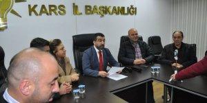 AK Parti Kars İl Başkanı Adem Çalkın'dan CHP'li Özkoç'a sert tepki