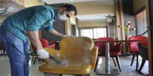 Kars'ın Gözde Yemek Mekanı Kars Taşfırın'da buharlı dezenfekte