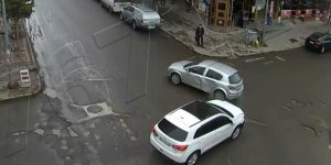 Kars'ta meydana gelen kaza kamerada