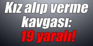 Kars'ta kız alıp verme kavgası: 19 yaralı!