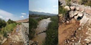 Aras Nehri boyundaki sulama kanalları kurudu