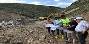 Susuz Aynalı köyü, Tersip Bendi ve Islah Sekisi inşaatında inceleme