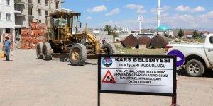 Kars Belediyesi yol ve kaldırım çalışmalarına hız verdi