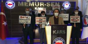 Kars Memur-Sen Fransa'yı protesto etti