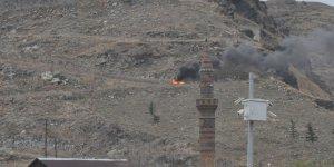 Kars'ta lastik yangını itfaiyeyi harekete geçirdi