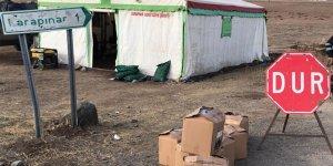 Sarıkamış'ta karantinaya alınan köylere gıda yardımı yapıldı