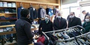 AK Parti İl Başkanı Adem Çalkın'dan, Kağızman'da esnaf ve vatandaş ziyareti