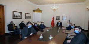Vali/Belediye Başkanı Türker Öksüz, esnafları dinledi