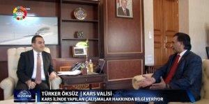 Kars Valisi ve Belediye Başkanı Türker Öksüz'ün EGETV programı geniş yankı uyandırdı