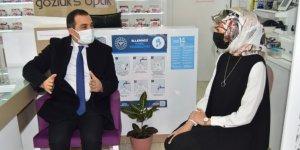 Kars Valisi Türker Öksüz, kadın girişimci Ebru Özcan'ı ziyaret etti