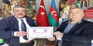 TADDF'den Gazeteci Ercüment Daşdelen'e Teşekkür belgesi