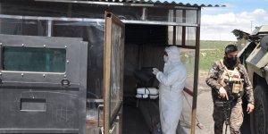 Kars'ta dezenfektan firmasından örnek davranış
