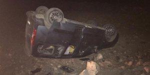 Sarıkamış'ta otomobil takla attı: 5 yaralı